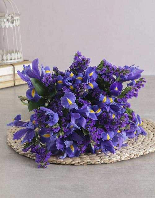 friendship: Blue Iris Bouquet!