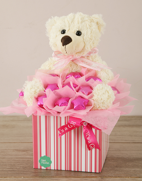 teddy-bears: It's a Girl Edible Arrangement!