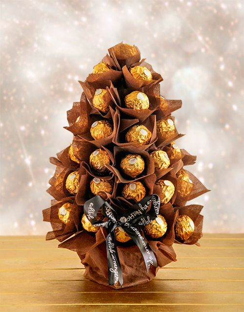 edible-chocolate-arrangements: Ferrero Festive Tree!