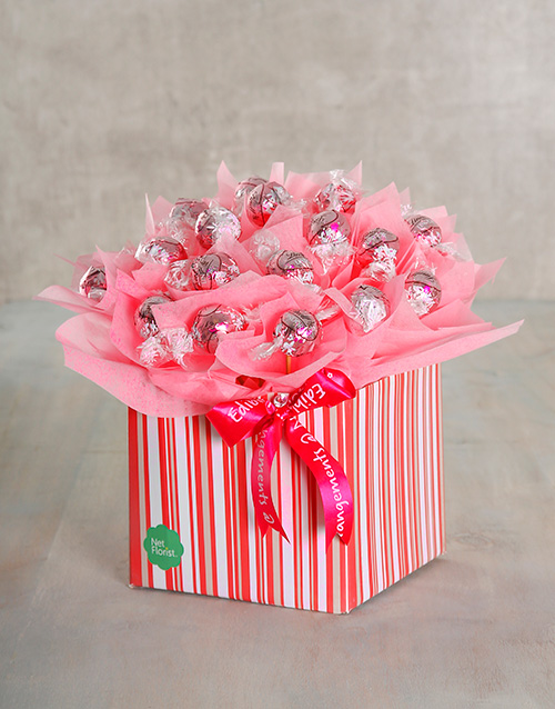 birthday: Perfect Pink Edible Arrangement!