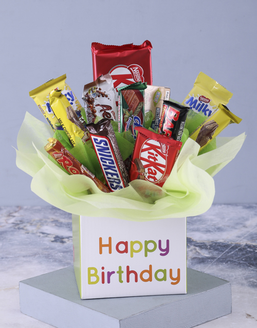 edible-chocolate-arrangements: Happy Birthday Mixed Chocolate Bouquet!