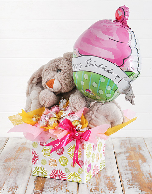 edible-chocolate-arrangements: Rabbit Lindt and Birthday Balloon Box!
