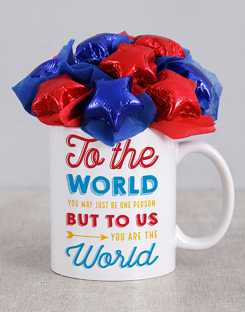 edible-chocolate-arrangements: You Are The World Mug Arrangement!
