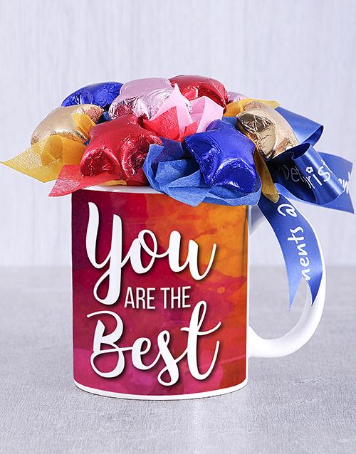 edible-chocolate-arrangements: The Best Choc Star Mug Arrangement!