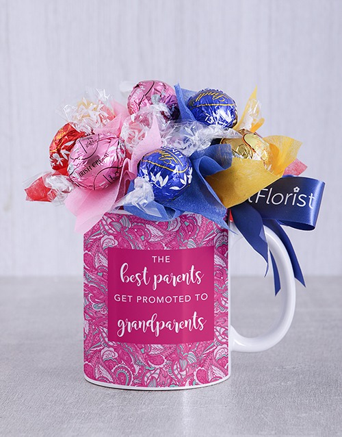 prices: Best Grandparents Lindt Mug Arrangement!