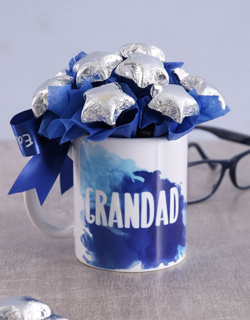 edible-arrangments: Star Grandad Arrangement in Mug!