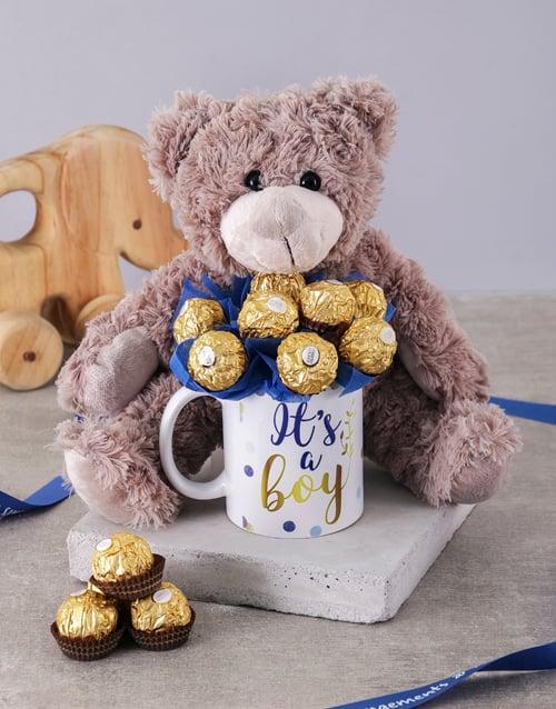 chocolate: Its a Boy Brown Bear Arrangement!