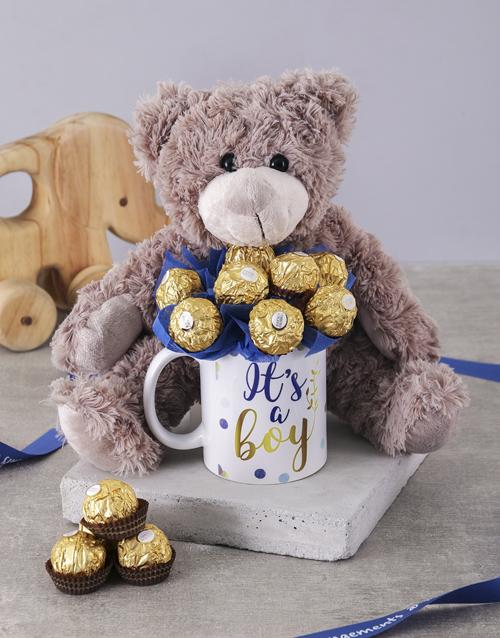 edible-chocolate-arrangements: Its a Boy Brown Bear Arrangement!