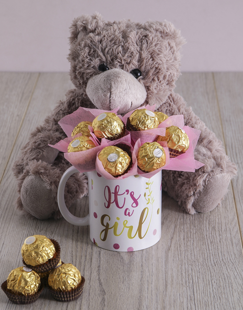 teddy-bears: It's a Girl Brown Bear Arrangement!