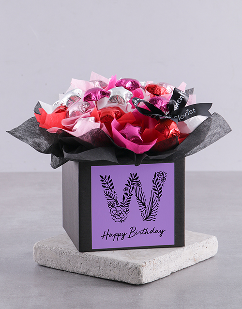 congratulations: Personalised Birthday Chocolate Box for You!