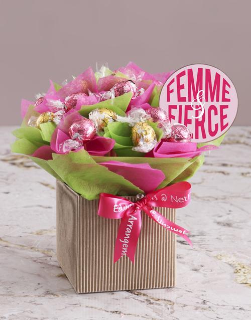 edible-chocolate-arrangements: Femme and Fierce Edible Arrangement!