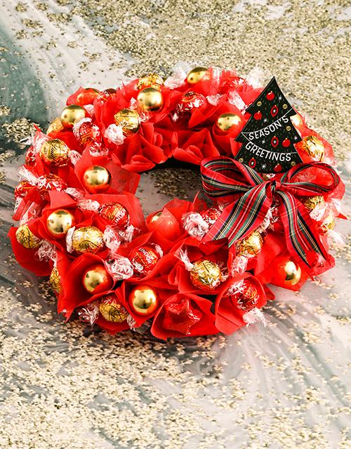 edible-arrangments: Luscious Lindt Wreath!