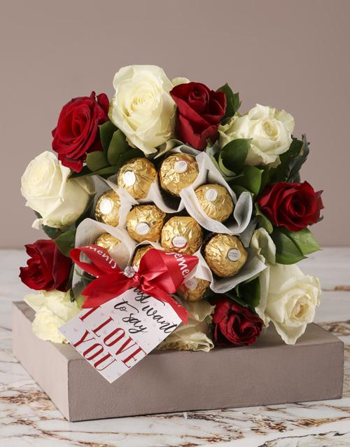 edible-chocolate-arrangements: Romantic Rose and Choc Edible Arrangement!