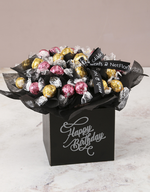 chocolate: Refined Lindt Truffle Birthday Bouquet!