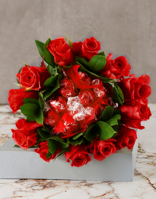 birthday: Red Is The Colour Of Love Edible Bouquet!
