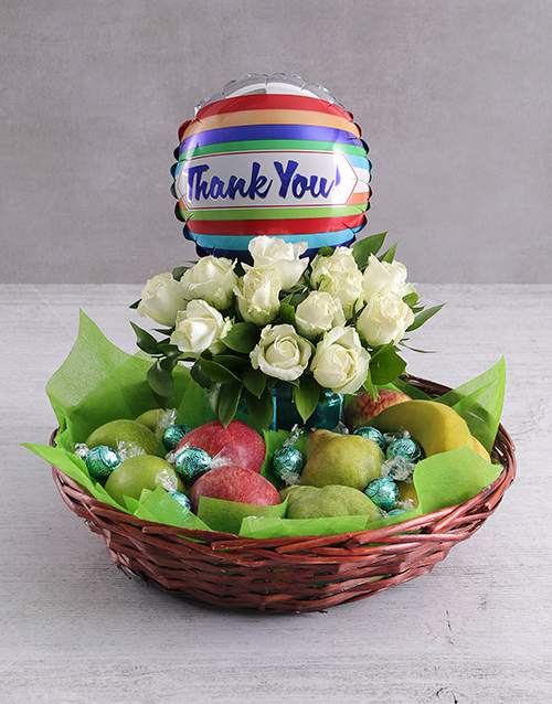 gourmet: Thank You Rose and Fruit Basket!