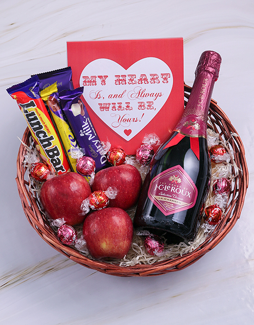 love-and-romance: My Heart Bubbly and Choc Basket!