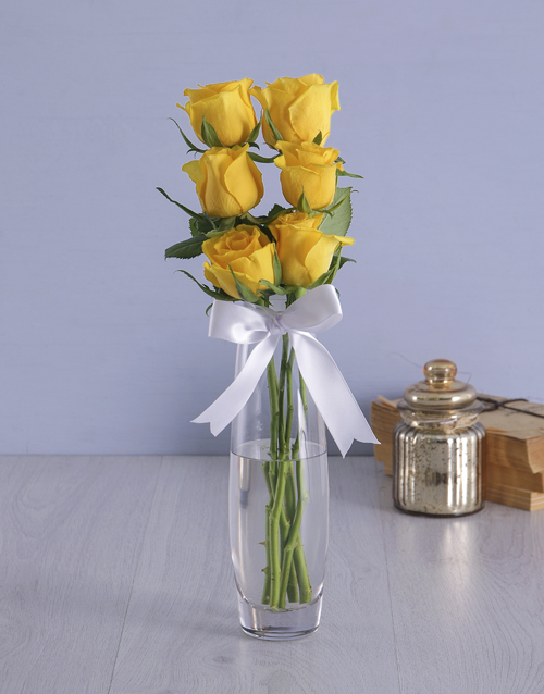 roses: Say it with Six   Yellow!