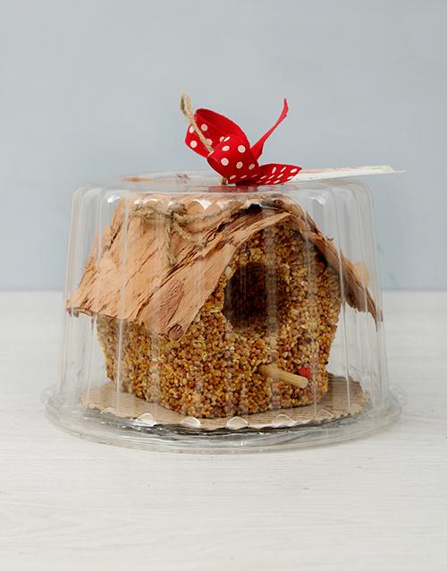 flowers: Bird House Seed Cake!