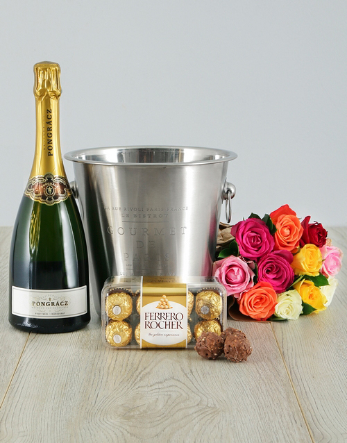 birthday: Mixed Roses, Pongracz and Ice Bucket!