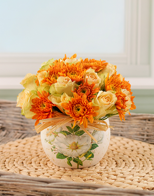 colour: Orange and Cream Arrangement!