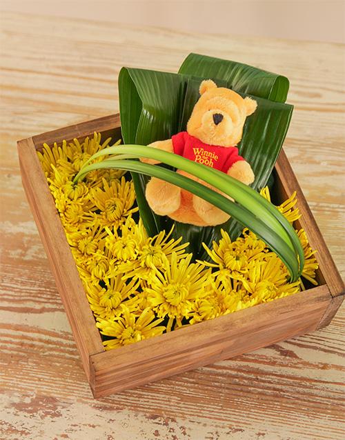 teddy-bears: Bright Winnie the Pooh Flower Box!