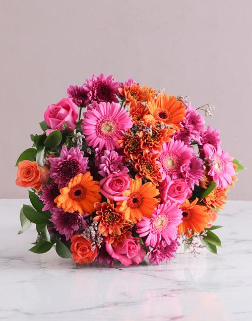 anniversary: Colour Burst Bouquet!