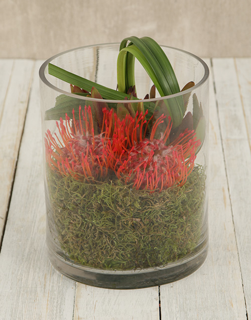 colour: Pincushions in Cylinder Glass Vase!