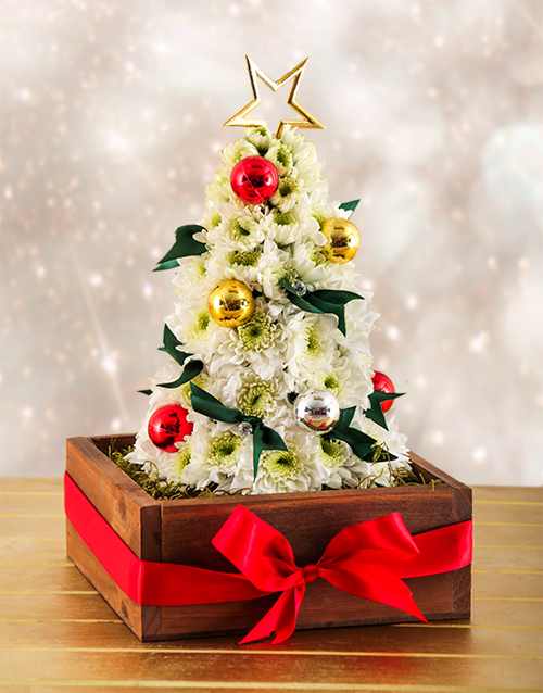 wooden-crates: Flower Christmas Tree!