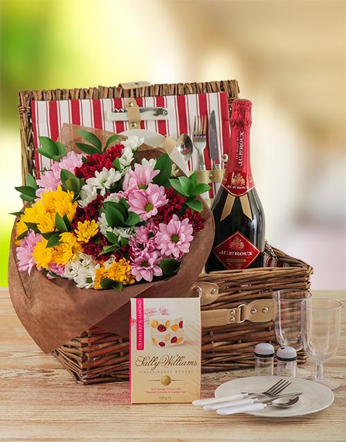 flowers: Happy Colour Picnic Basket!