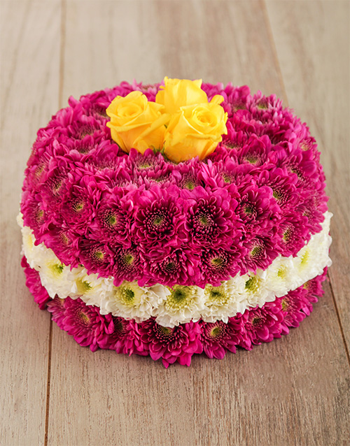 cakes: Perfectly Pink Flower Cake!