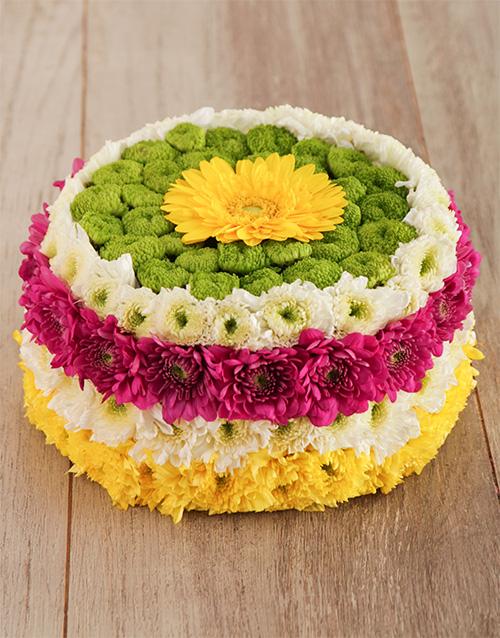 birthday: Blooming Happy Flower Cake!