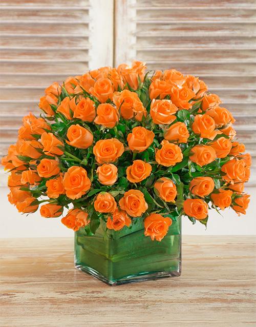 designer: Sunset Rose Arrangement!