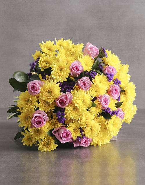bouquets: Cheerful Pompom Mixed Flower Bouquet!