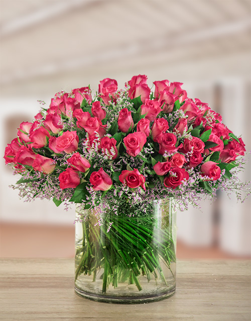 luxury: Pink Elegance Rose Arrangement!