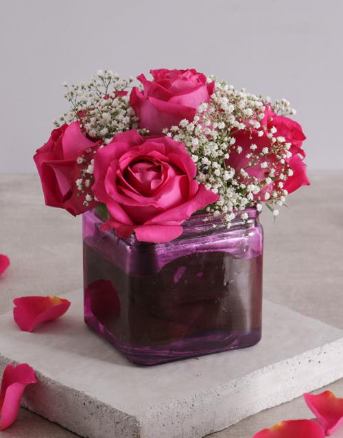 coloured-vases: Pink Lady Rose Vase!