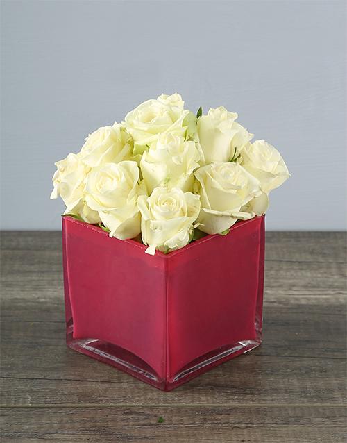 coloured-vases: Petite White Rose Wonder!
