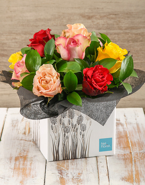 roses: Giant Ethiopian Rose Boxed Arrangement!