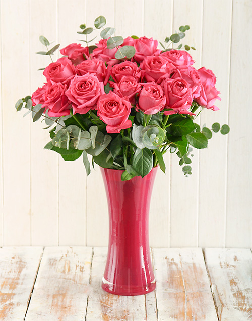 vase: Cerise Surprise Bouquet!
