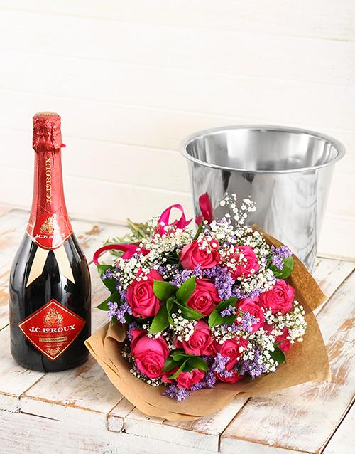 gourmet: Bubbles of Love Floral Arrangement!