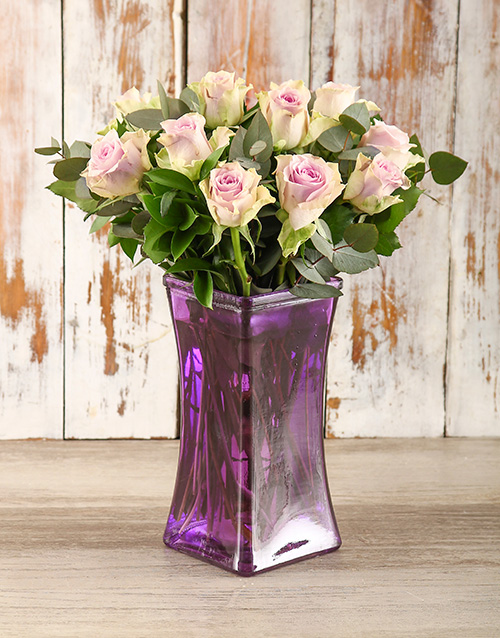 roses: Pastel Purple Passion Arrangement!