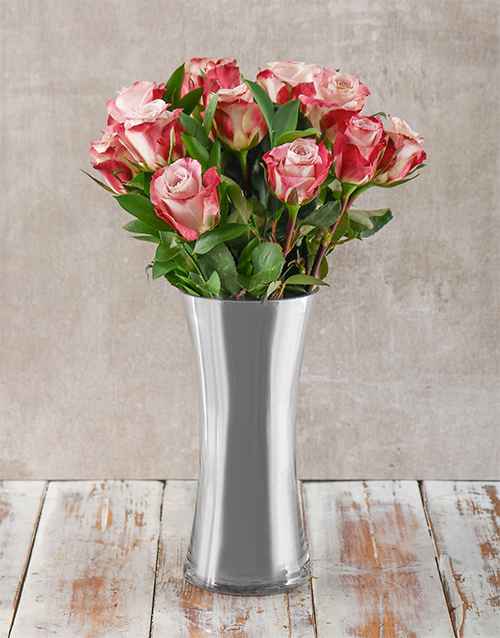 anniversary: Pink and Silver Arrangement!