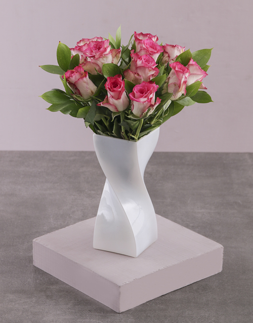 coloured-vases: Sweet Like Candy Rose Vase!