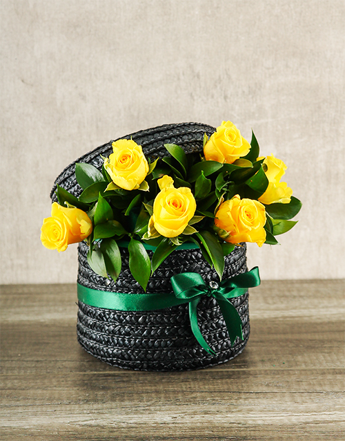 colour: Yellow Rose Hat Box!