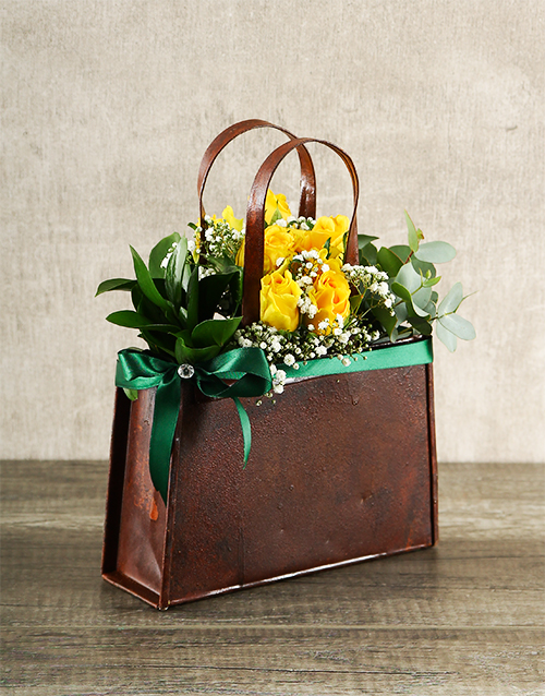 colour: Yellow Rose Handbag!