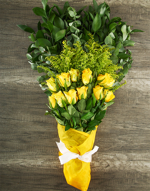 mixed-bouquets: Mystical Yellow Rose Bouquet!