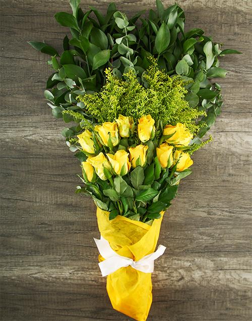 colour: Mystical Yellow Rose Bouquet!