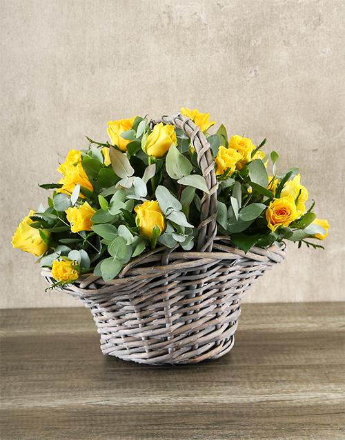 colour: Yellow Rose Basket!