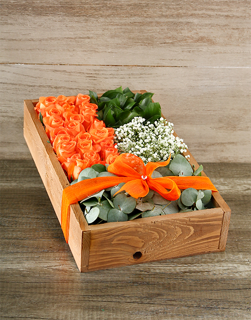 wooden-crates: Orange Rose Crate Delux!