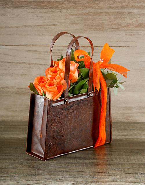 birthday: Orange Rose Handbag!